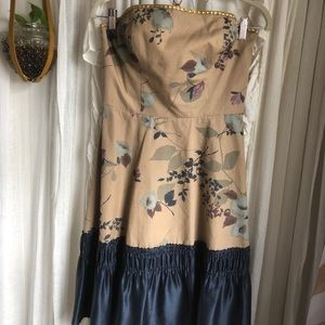 Anthropologie French Countryside Strapless Dress